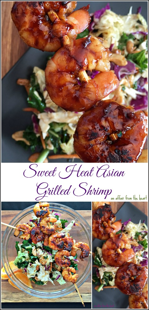 Sweet Heat Asian Grilled Shrimp -- An Affair from the Heart