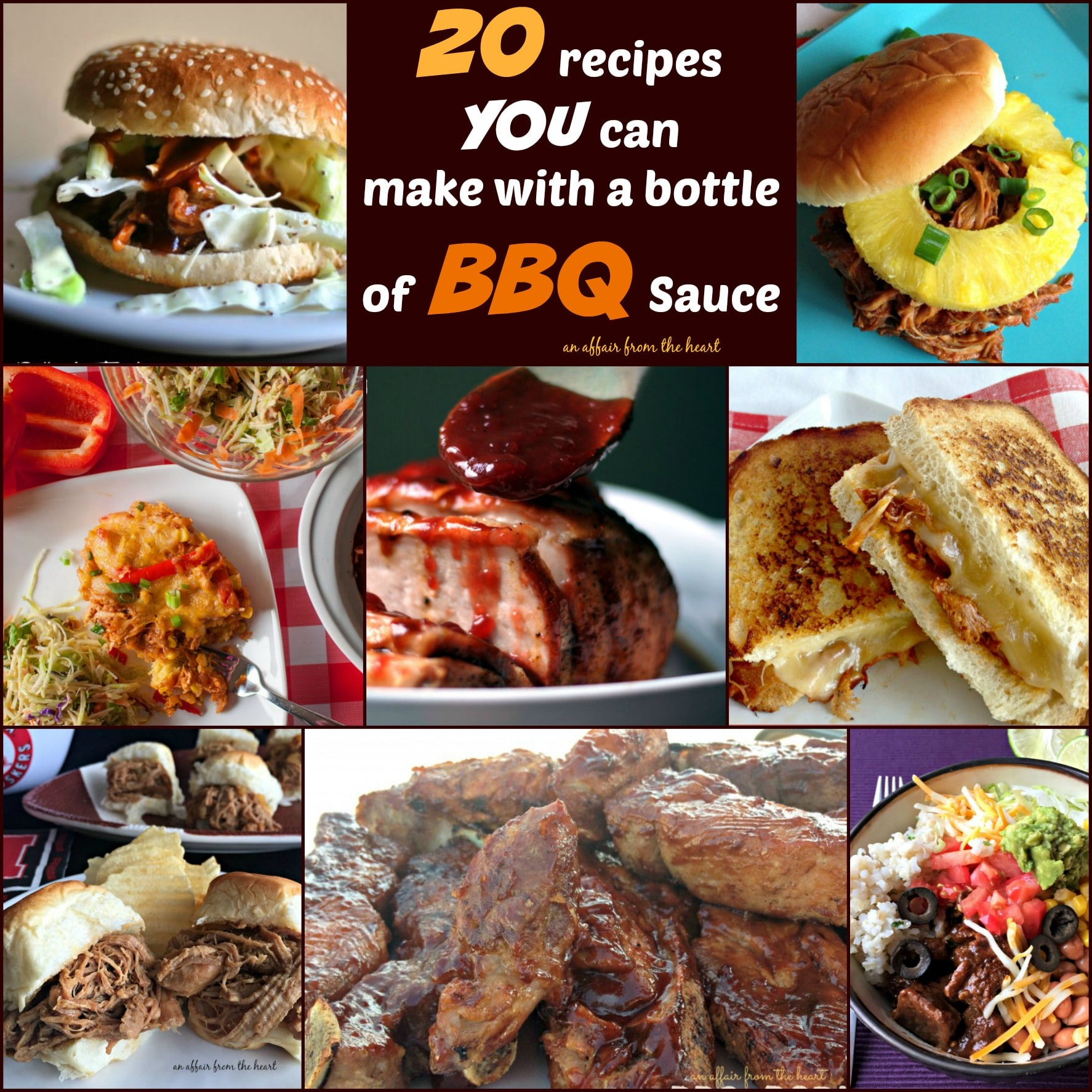 20 Recipes you can make with a Bottle of BBQ Sauce - An Affair from the Heart