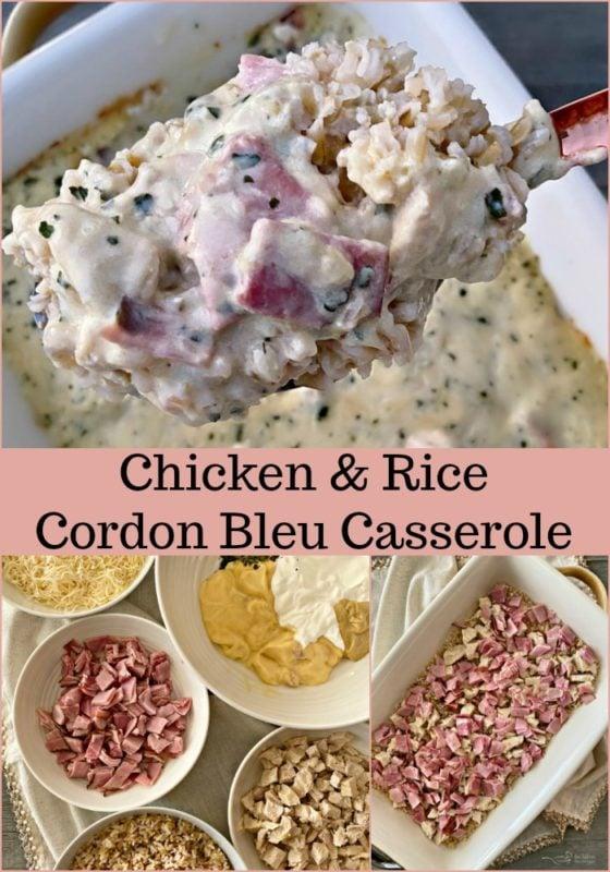 Chicken & Rice Cordon Blue Casserole - An Affair from the Heart