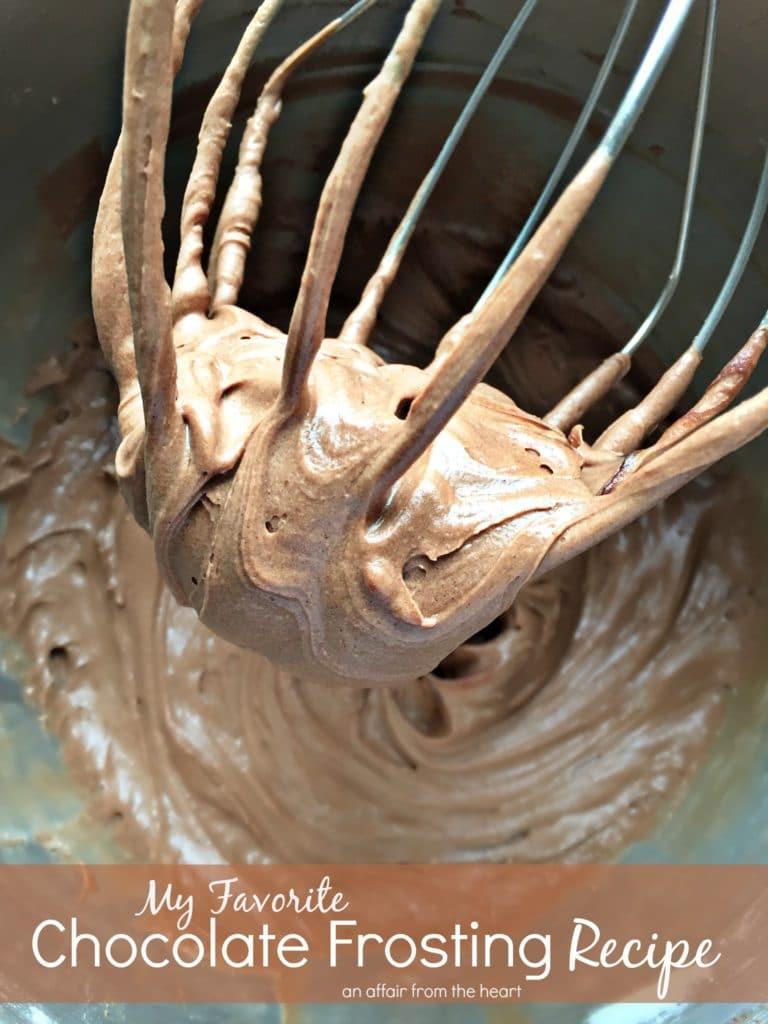 My Favorite Chocolate Frosting Recipe