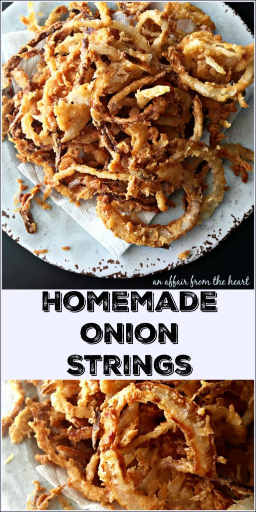 Homemade Onion Strings | An Affair from the Heart