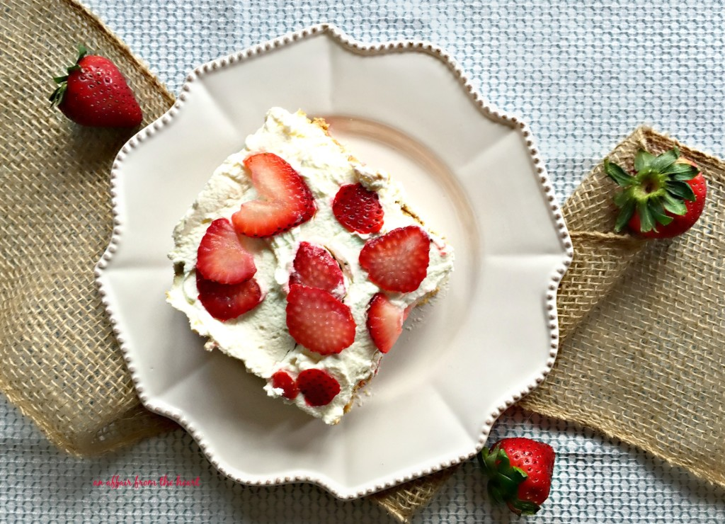 Old Fashioned Strawberry Icebox Cake