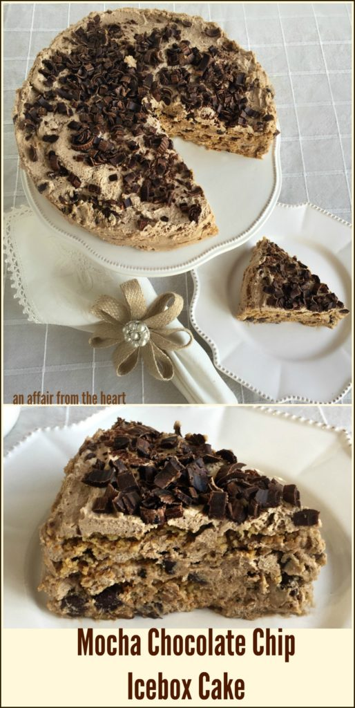 Mocha Chocolate Chip Icebox Cake An Affair from the Heart