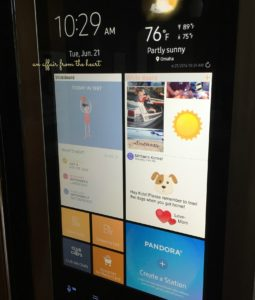 Samsung Family Hub Customizable Screen