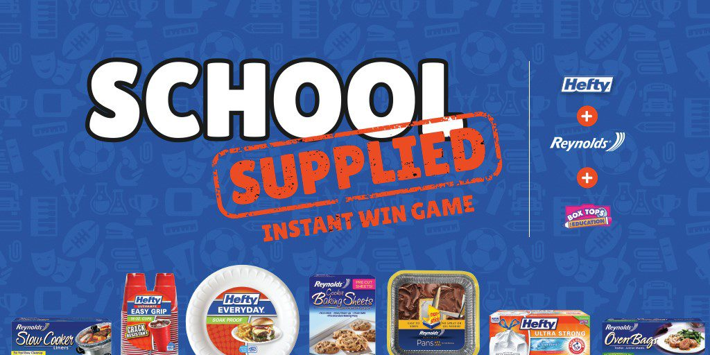 School Supplied Instant Win Game