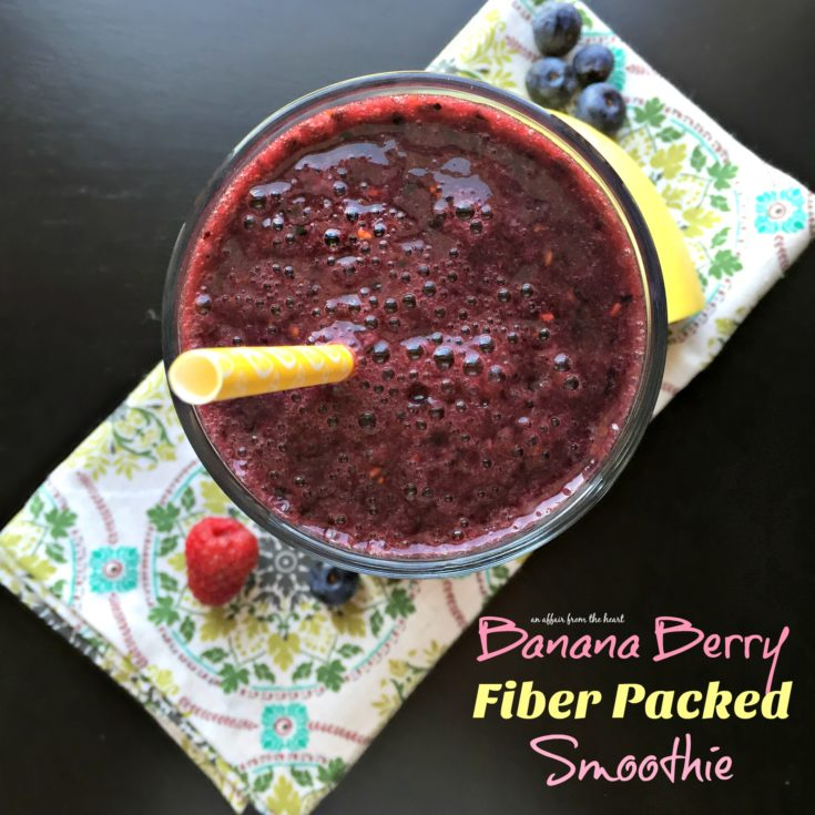 Banana Berry Fiber Packed Smoothie