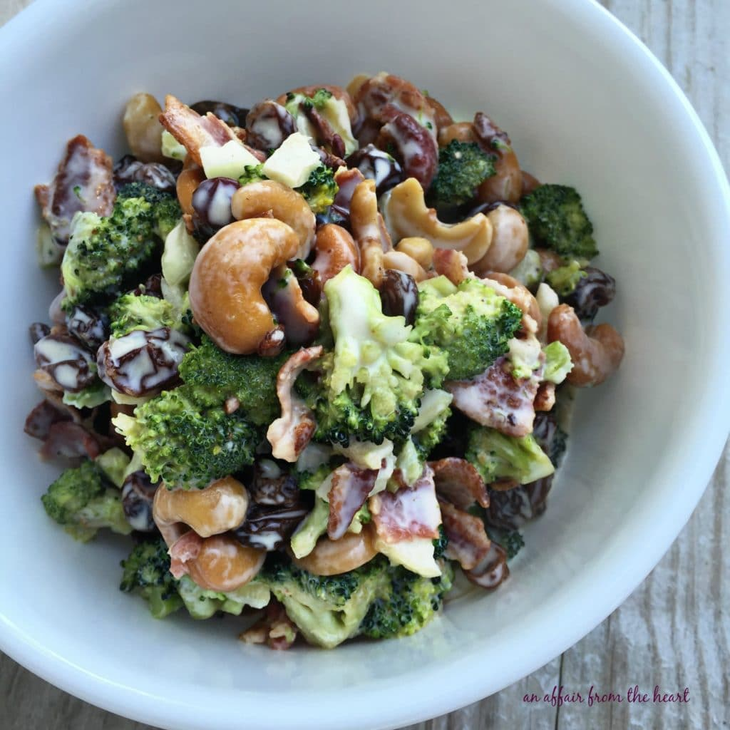 Bacon Cashew Broccoli Salad
