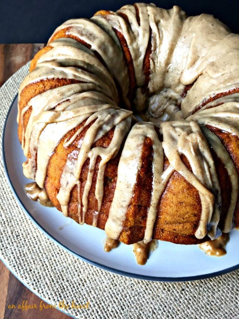 Pumpkin Spiced Coffee Cake with Brown Butter Glaze | An Affair from ...
