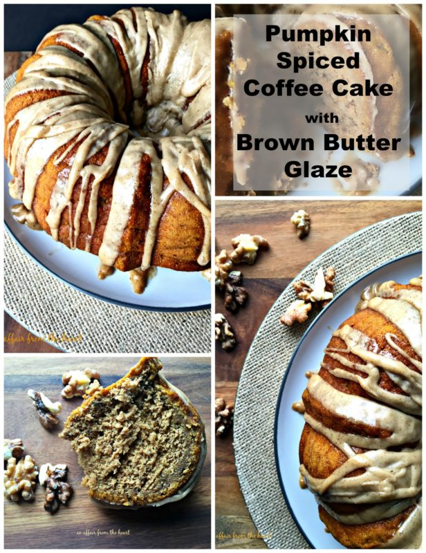 Pumpkin Spiced Coffee Cake with Brown Butter Glaze - An Affair from the Heart