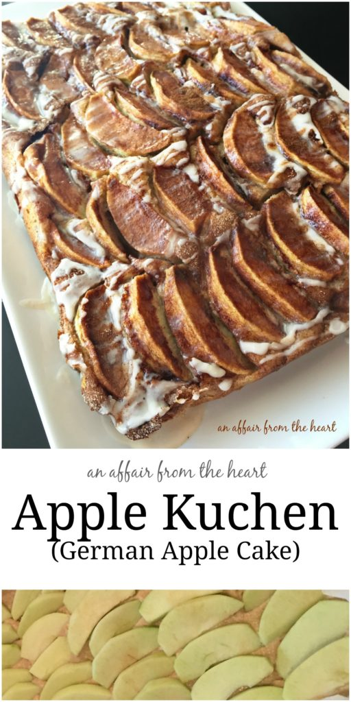 Apple Kuchen - German Apple Cake - An Affair from the Heart