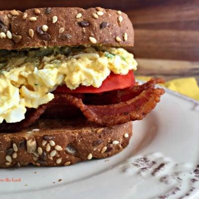 BEST {Bacon, Egg Salad & Tomato} SANDWICH