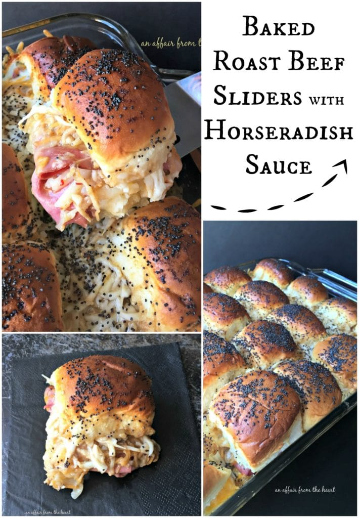 Baked Roast Beef Sliders with Horseradish Sauce - An Affair from the Heart