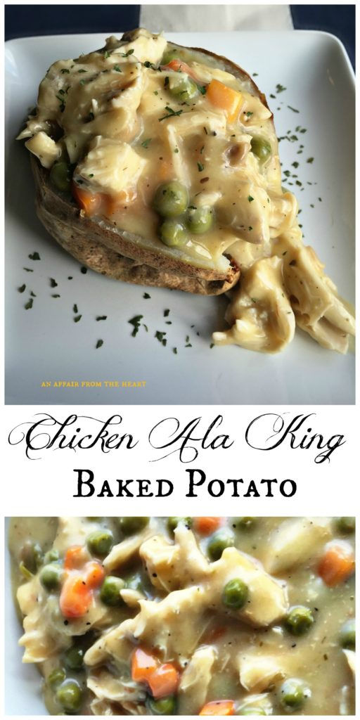 Chicken Ala King Baked Potato - An Affair from the Heart