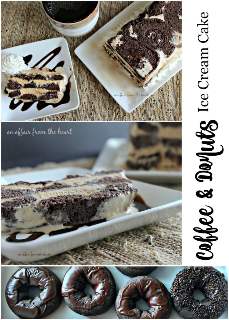 Coffee & Donuts Ice Cream Cake -- An Affair from the Heart