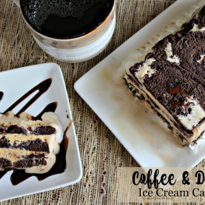 Coffee & Donuts Ice Cream Cake