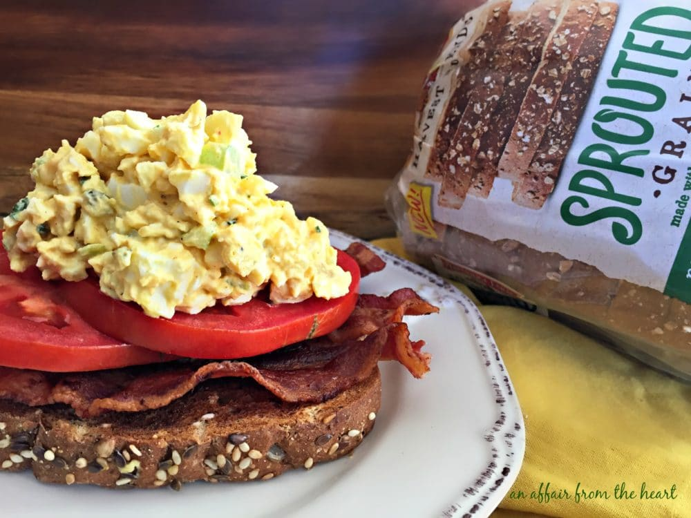 ... smoked bacon, red ripe tomato slices and more of the BEST egg salad