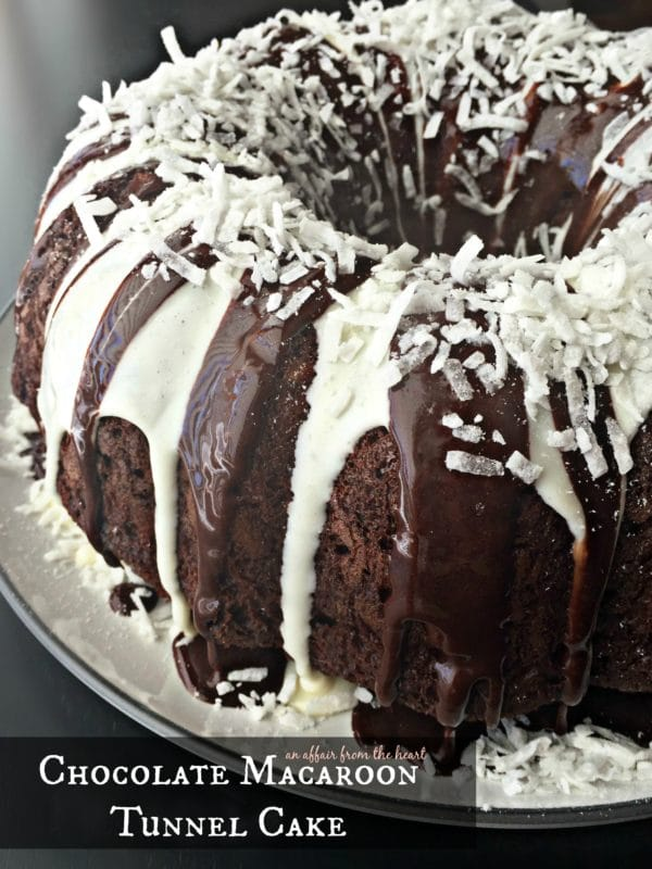 Chocolate Macaroon Tunnel Cake | An Affair from the Heart
