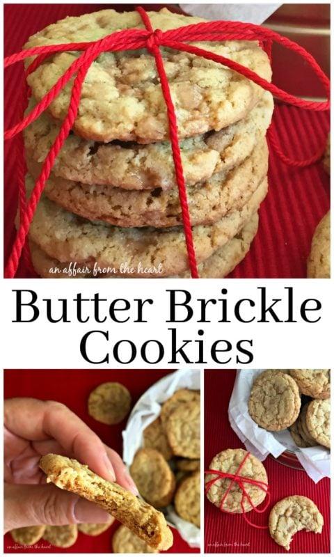 Butter Brickle Cookies - An Affair from the Heart