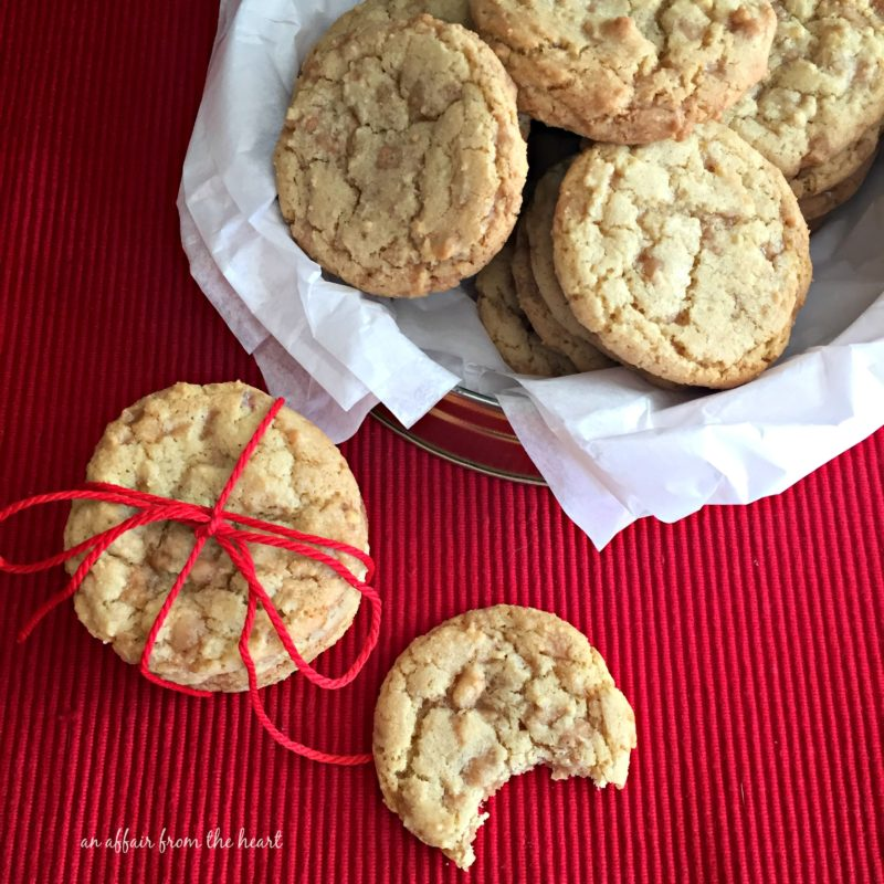 Butter Brickle Cookies