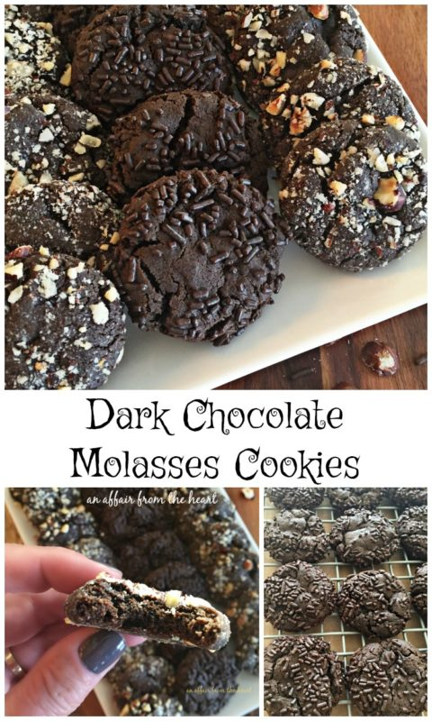 Dark Chocolate Molasses Cookies - An Affair from the Heart