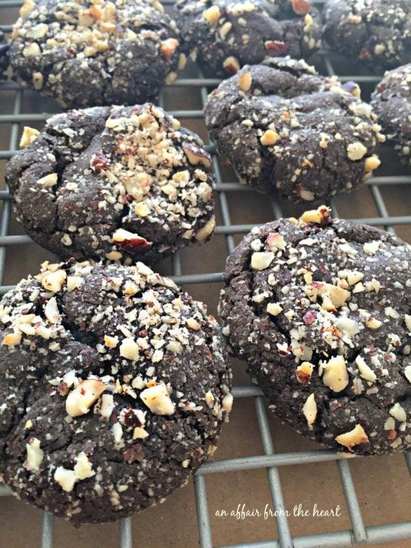 Dark Chocolate Molasses Cookies