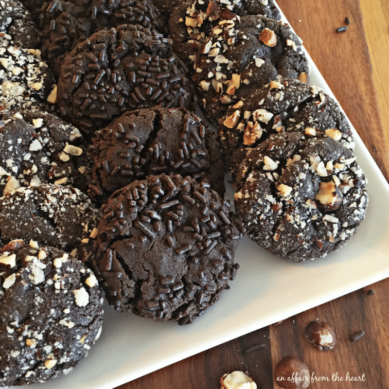 Dark Chocolate Molasses Cookies