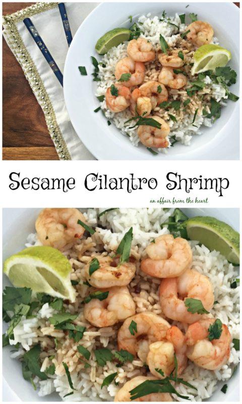 Sesame Cilantro Shrimp - An Affair from the Heart