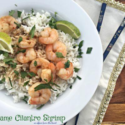 Sesame Cilantro Shrimp