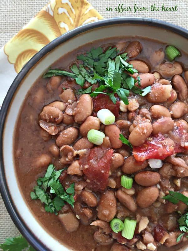 Southwestern Pinto Bean Soup