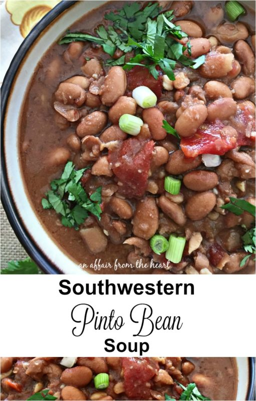 Southwestern Pinto Bean Soup - an affair from the heart