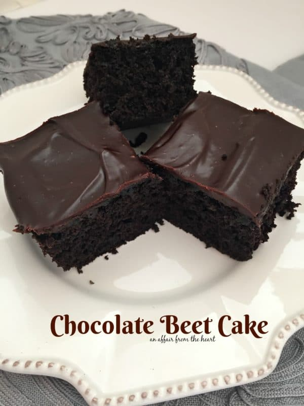 Chocolate Beet Cake | An Affair from the Heart
