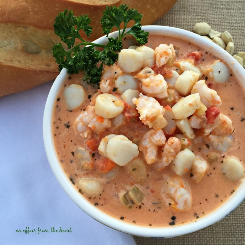 Creamy Tomato Seafood Bisque