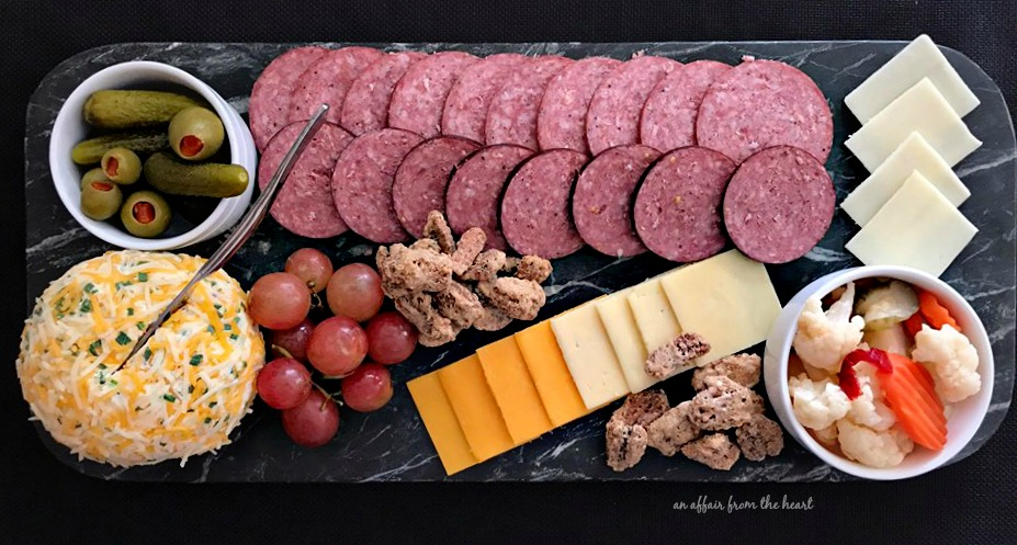 Johnsonville Summer Sausage Cheese Board