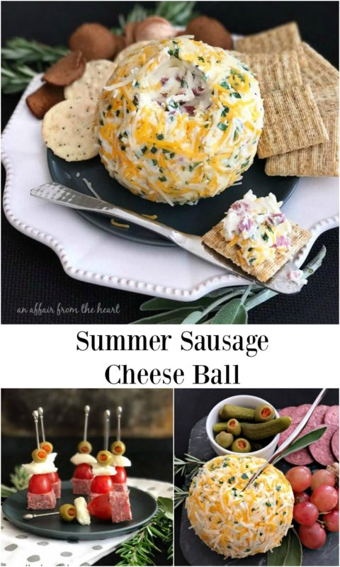 Summer Sausage Cheese Ball - An Affair from the Hart