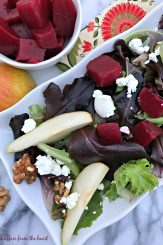 Pickled Beet Salad with Pears, Walnuts & Goat Cheese