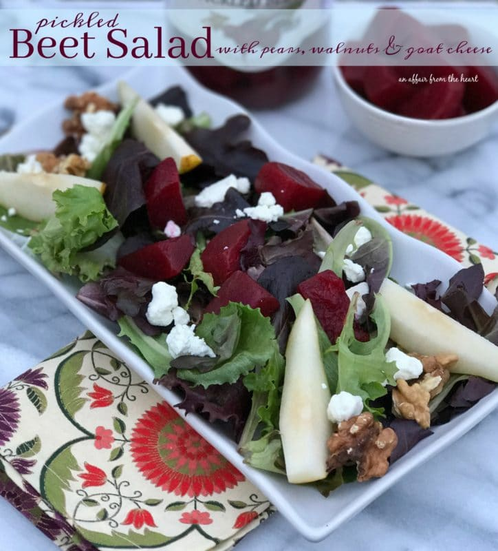 ... Salad with Pears, Walnuts & Goat Cheese | An Affair from the Heart