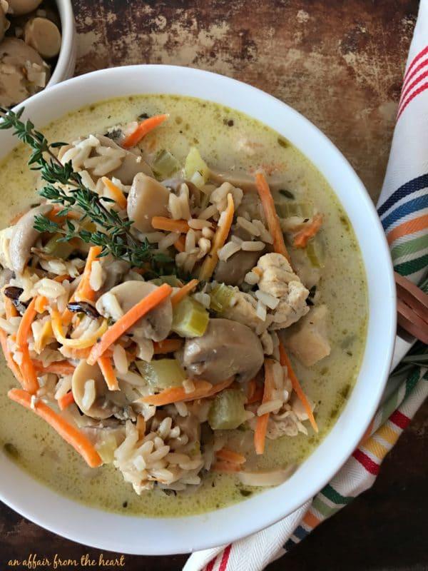 Chicken, Mushroom & Wild Rice Soup