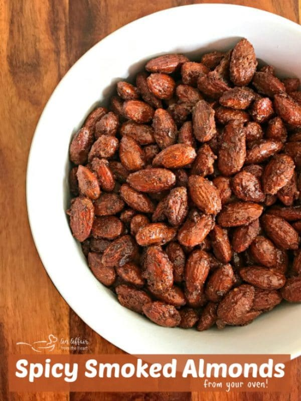 Spicy Smoked Almonds - get that smokey