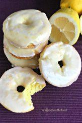 Baked Glazed Lemon Donuts