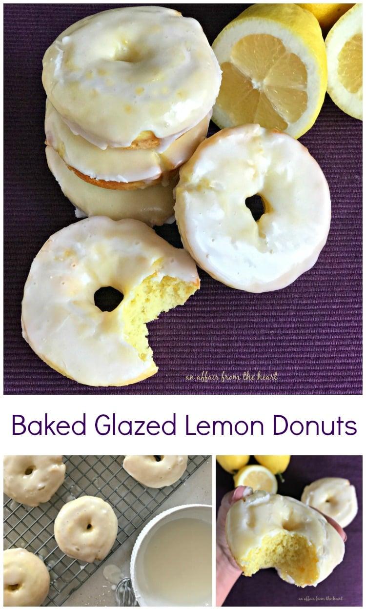 Baked Glazed Lemon Donuts - An Affair from the Heart
