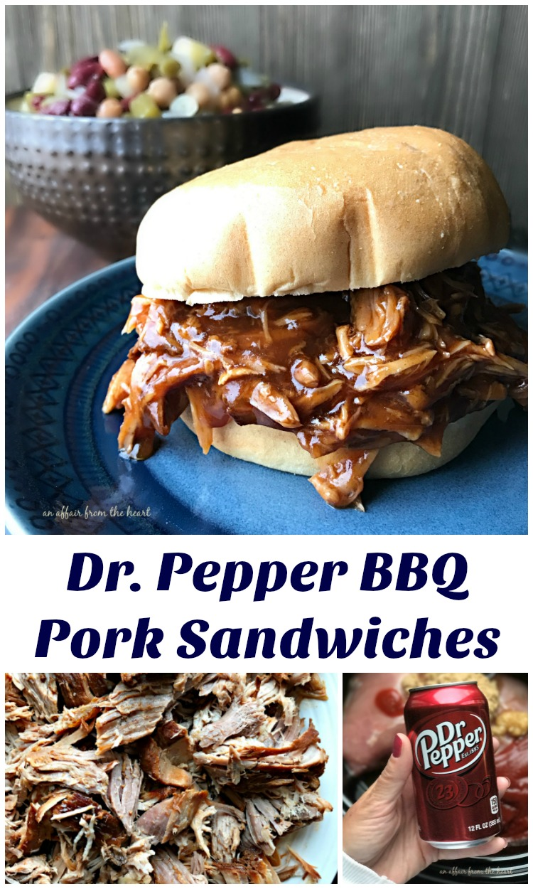 Dr. Pepper BBQ Pork Sandwiches - An Affair from the Heart