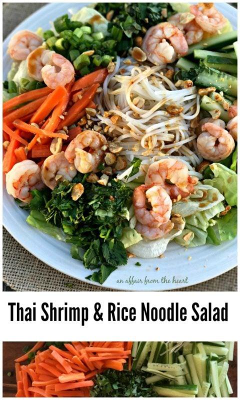 Thai Shrimp & Rice Noodle Salad - An Affair from the Heart