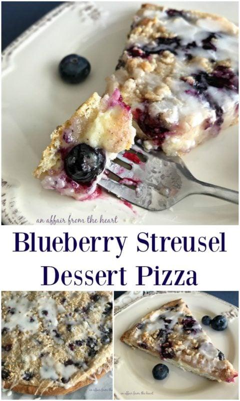 Blueberry Streusel Dessert Pizza - An Affair from the Heart