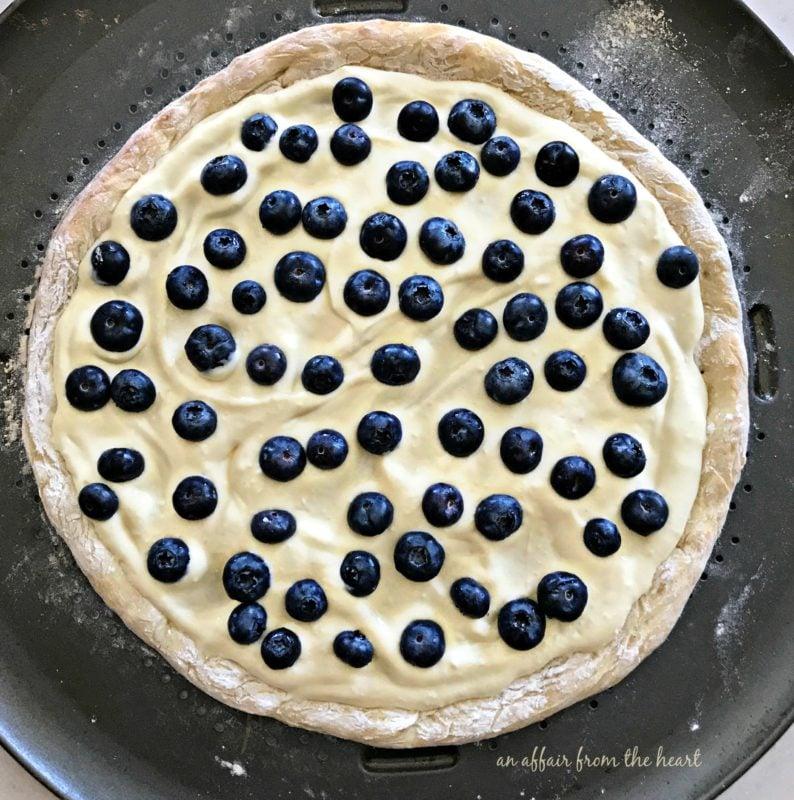 Blueberry Streusel Dessert Pizza