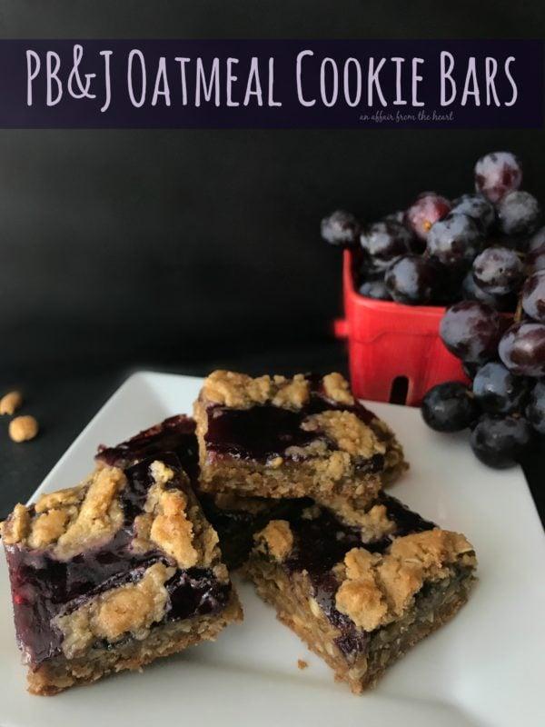 PB&J Oatmeal Cookie Bars