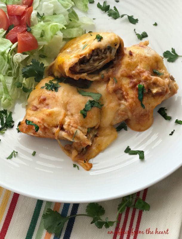 Slow Cooker Smothered Burritos