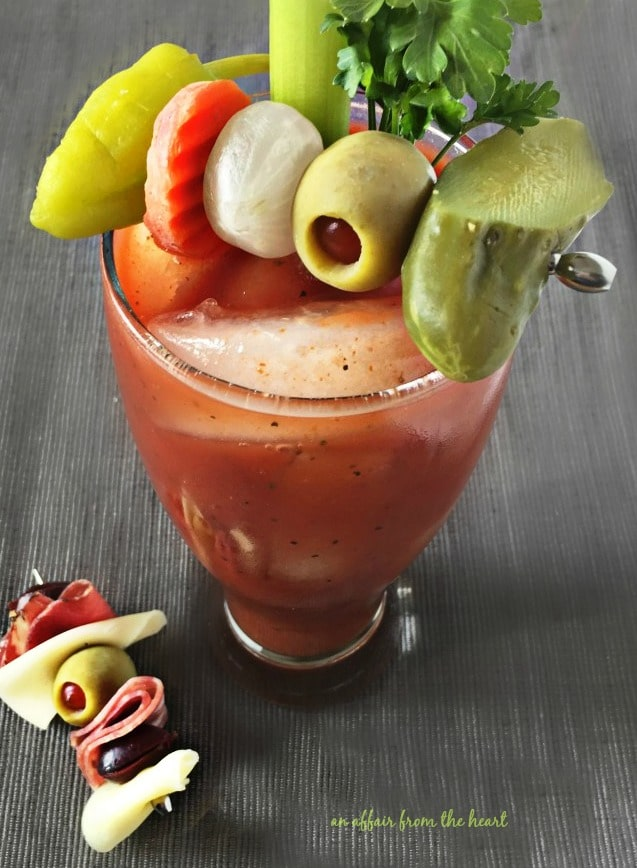 Close up of bloody mary