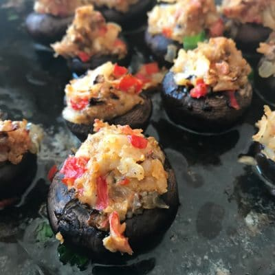 Surimi Seafood Stuffed Mushrooms