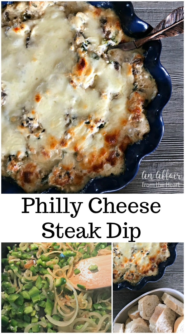 Philly Cheese Steak Dip - An Affair from Heart