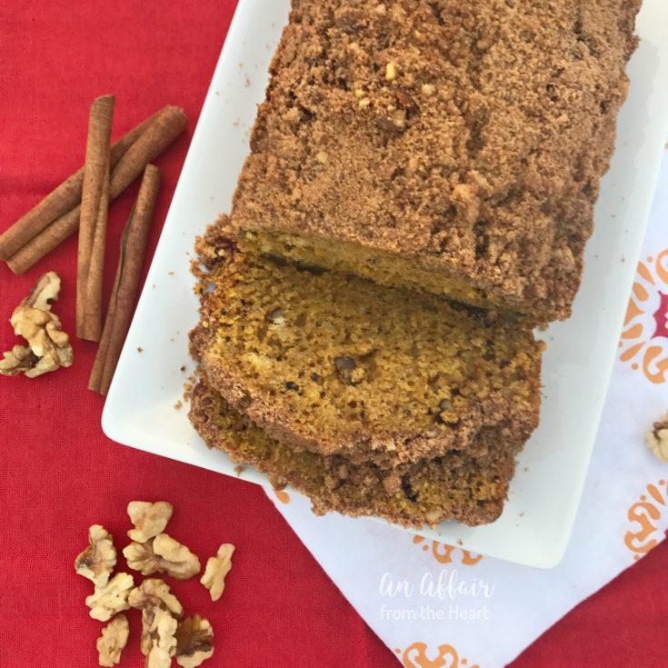 Pumpkin Zucchini Streusel Bread . #PumpkinWeek